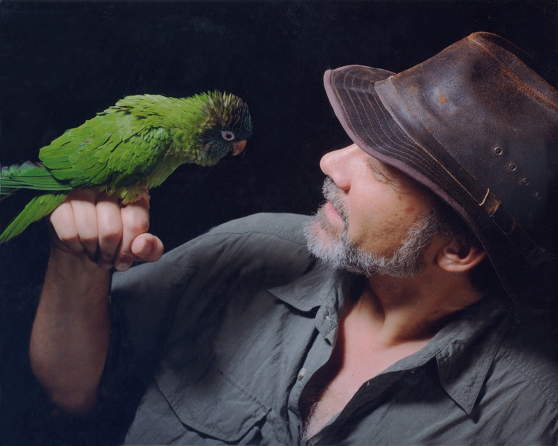Craig and his parrot, Inca